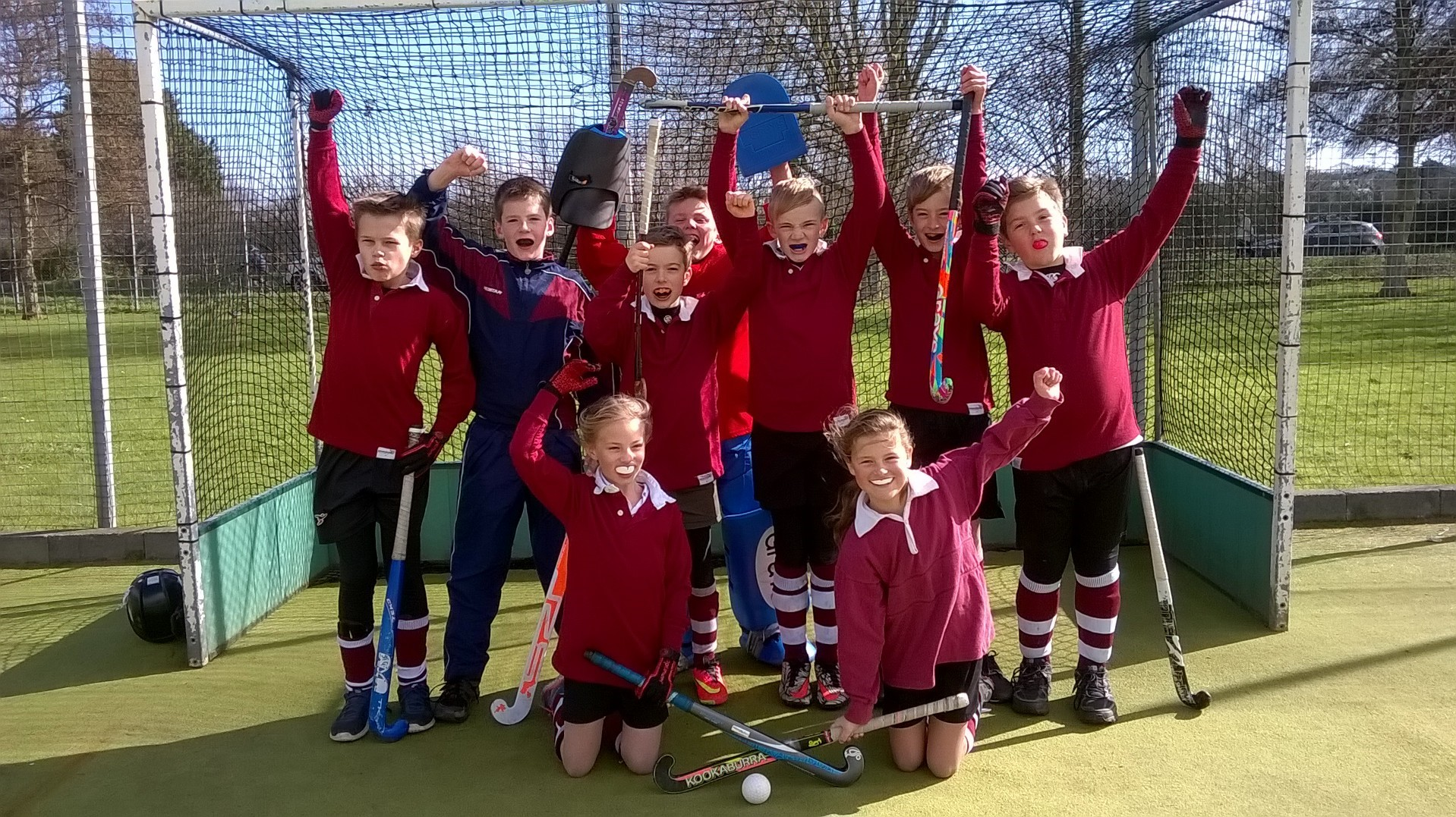 St George's Hockey Team Win Image