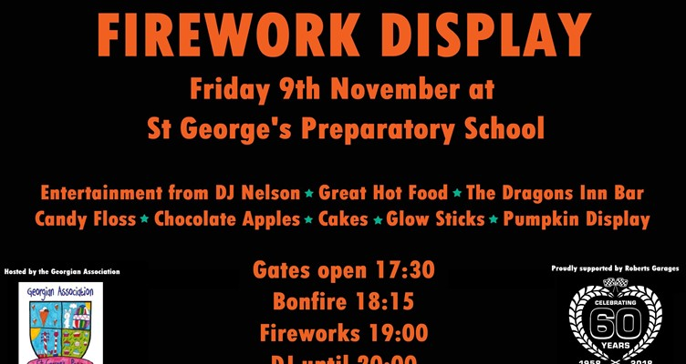 The Georgian Association 2018 Bonfire Night Party & Firework Display Image