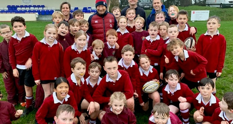 England Rugby Union Head Coach Eddie Jones Visits St. George's Image